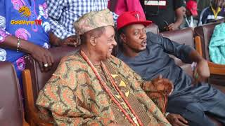9ICE, SMALL DOCTOR, ENIOLA BADMUS PAY HOMAGE TO KWAM1 AND ALAAFIN OF OYO AT PELLER'S FOOTBALL MATCH
