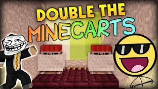 DOUBLE THE TNT MINECARTS, DOUBLE THE MINECRAFT TROLLING- Minecraft Sprint Mountain Parkour Battle