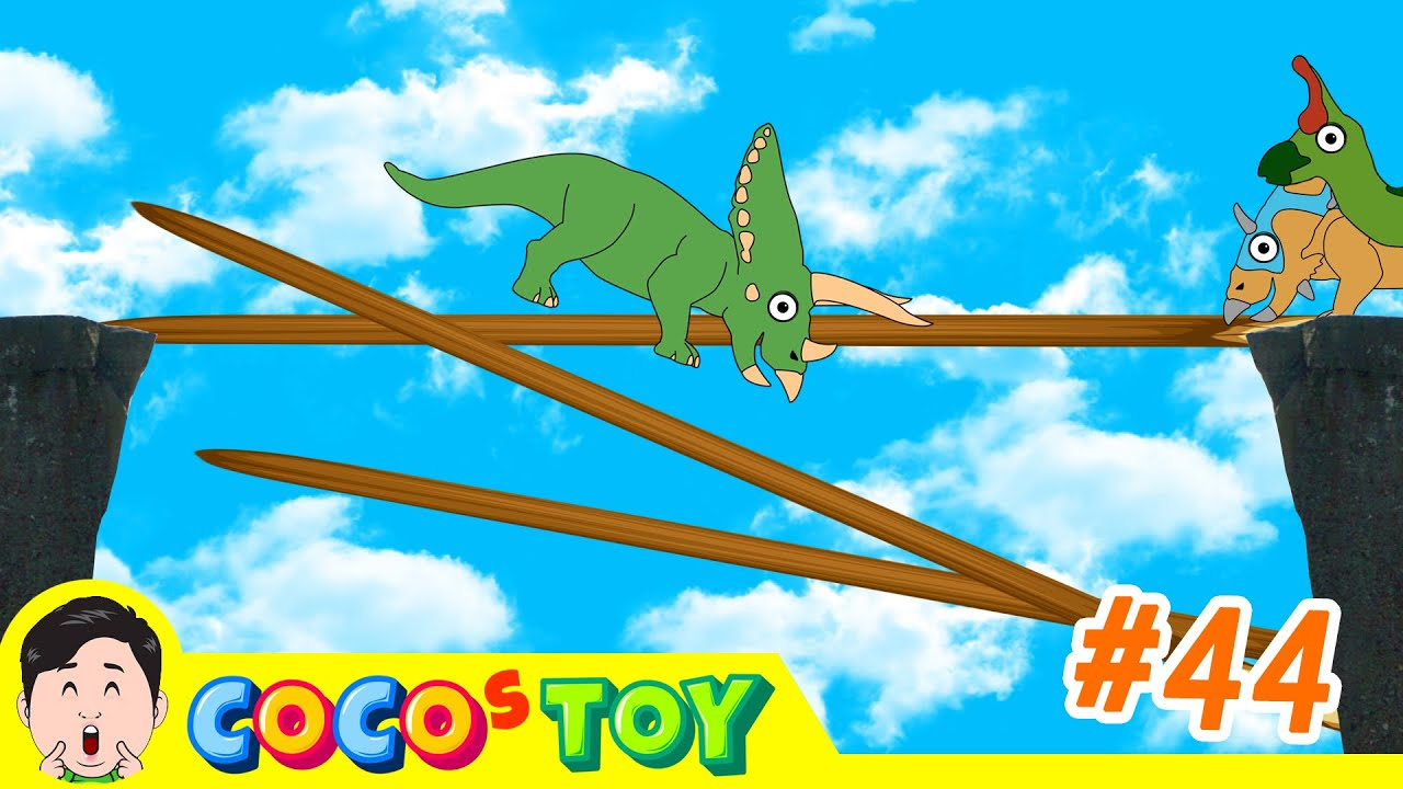 Big adventure of 5 little dinosaurs #44ㅣdinosaurs animation for kidsㅣCoCosToy
