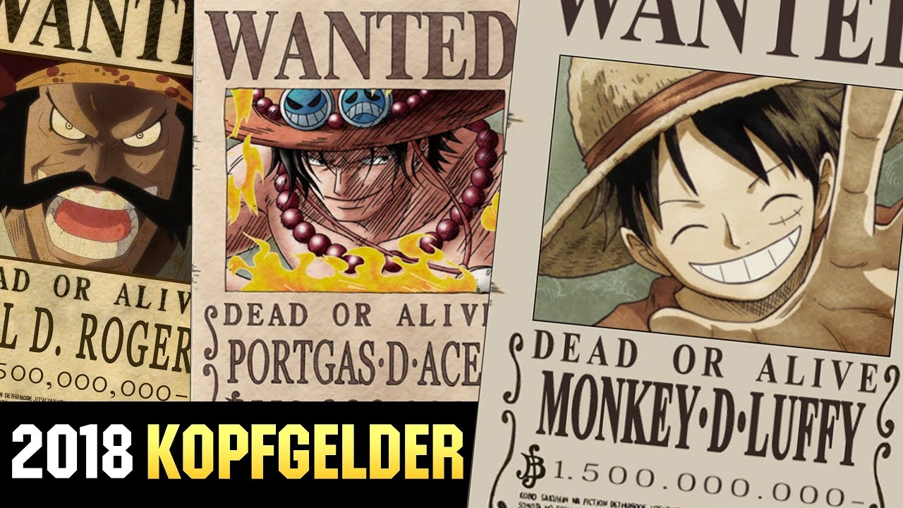 one piece kopfgelder