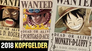 Alle Kopfgelder aus One Piece 2018! | SerienReviewer