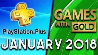 PlayStation Plus VS Xbox Games With Gold (January 2018)