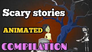 7 Scary and Horror Animated  Stories Compilation (June-July)|  डरावनी कहानी |  Scary baba