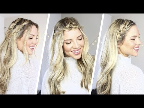 How to: 3 Easy Braided Hairstyles | Coachella | Luxy Hair