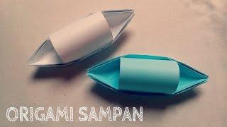 Origami Sampan Boat - Origami Easy