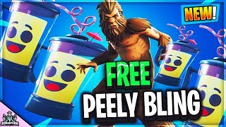*NEW* PEELY Smoothie Rare Back Bling IN FORTNITE BATTLE ROYALE
