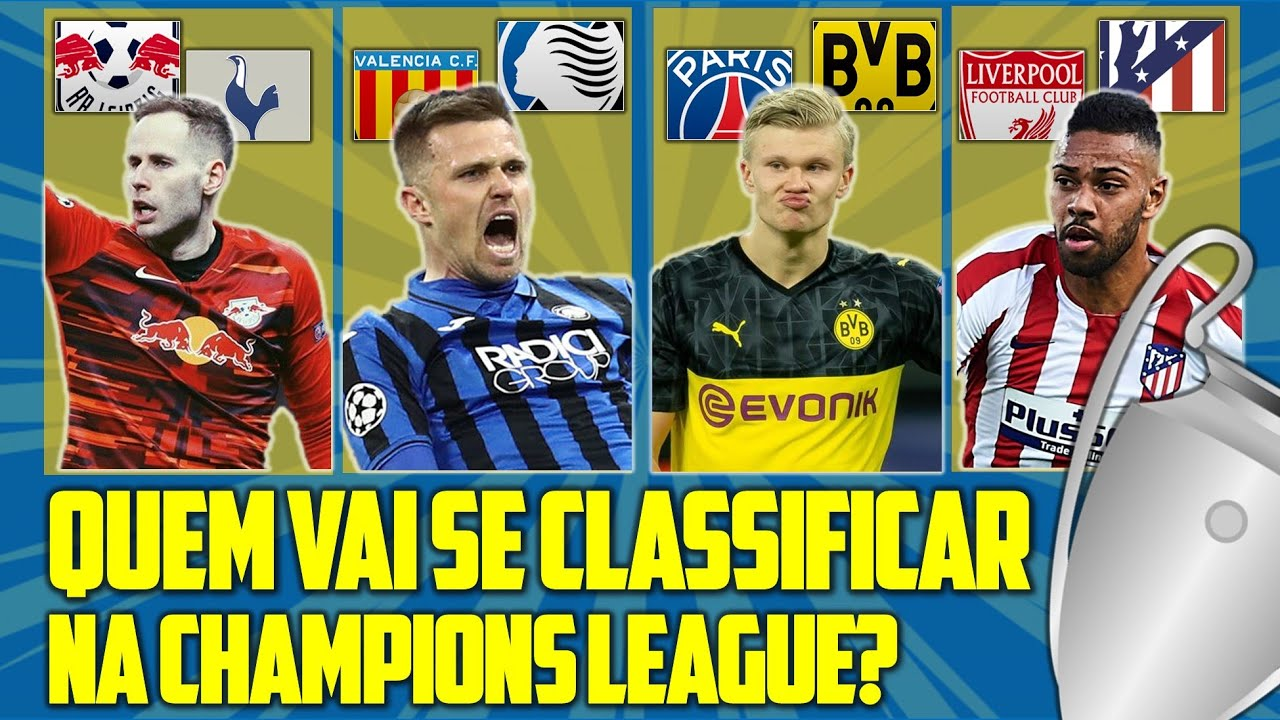 ANÁLISE DAS 8ªS DA UEFA CHAMPIONS LEAGUE   RBL x TOT   VAL x ATA   PSG x BVB   LIV x ATL