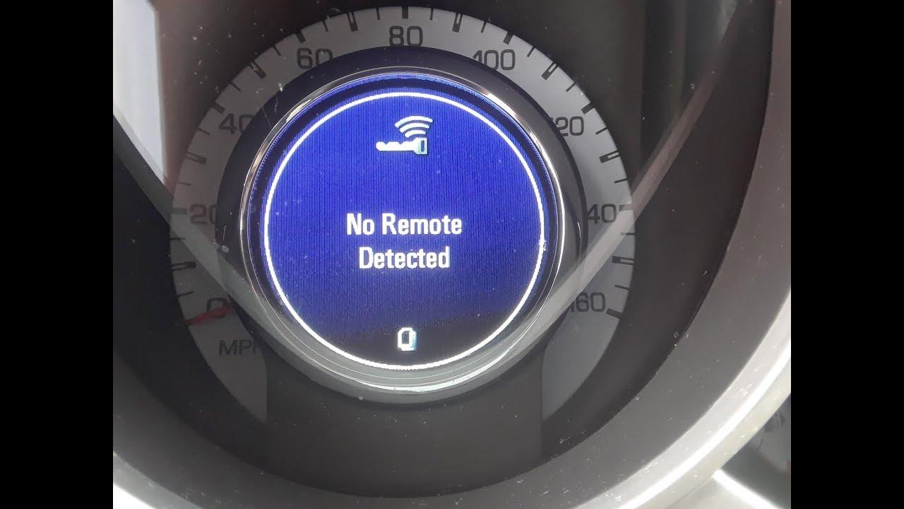 Cadillac Srx  U0026quot  No Remote Detected  U0026quot  Solution