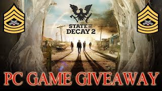 ☠️STATE OF DECAY 2 PC GAME GIVEAWAY☠️ | INTERACTIVE STREAM 1080P 60FPS