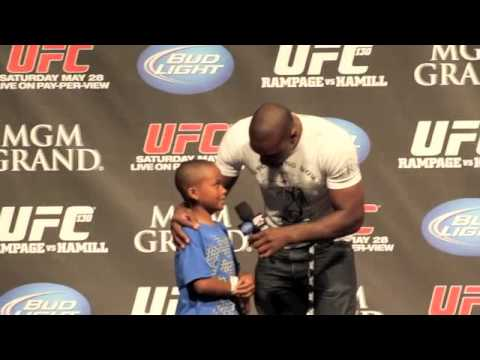 UFC Fighter Phil Davis Gets Choked Out By a Little Boy - MMA Weekly News