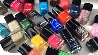 CHANEL NAIL POLISH COLLECTION | My Top Favourites + Limited Edition + Discontinued