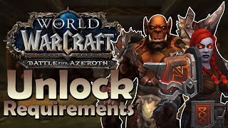 Maghar Orc  Dark Iron Dwarf Unlock Requirements REVEALED  Battle for Azeroth