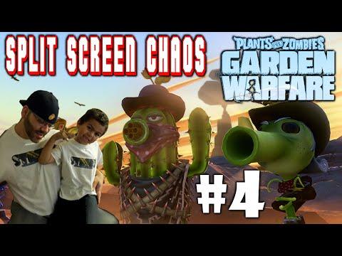 Full Download Plants Vs Zombies Garden Warfare Split Screen Chaos 4 Ps4 Street N Son Vs Zombie