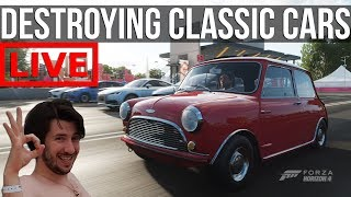 Destroying Classic Cars In Forza Horizon 4