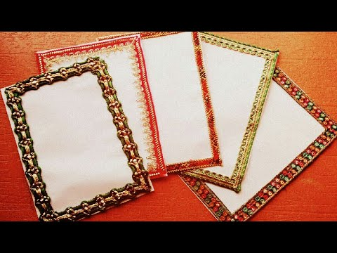 How To Decorate Project File Borders With Attractive Laces | Project Ideas | Border Designing Ideas