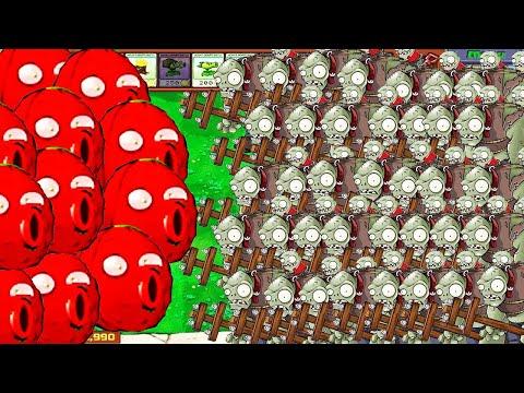Plants Vs Zombies - 9999 Red Wall Nut Vs 9999 Gargantuar Fight!