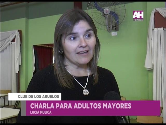 LUCIA MUJICA   LIZ GOMEZ   CLUB DE ABUELOS CHARLA PARA ADULTOS MAYORES