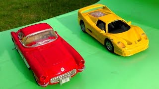 TOY CARS SLIDE PLAY ( HOT WHEELS CARS )