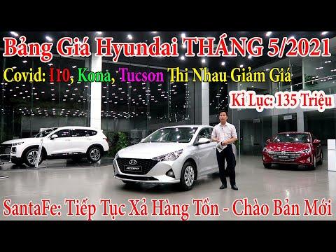 ✅Bảng Giá Xe Hyundai i10, kona, accent,tucson, santafe Tháng 5/2021 Và Lăn Bánh Xe Hyundai |Topcarvn