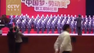 Choir members plunge as stage collapses in Guizhou