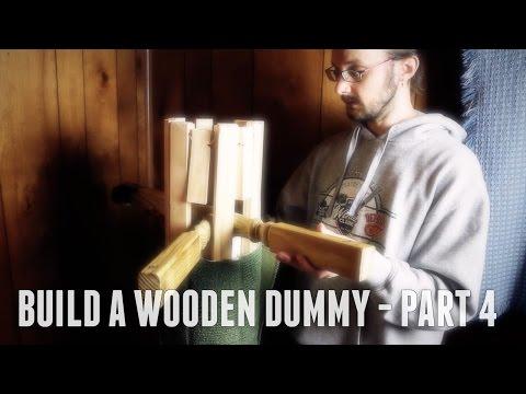 DIY Mook Jong Wooden Dummy - Mobile Freestanding Gravity Design, Part Four