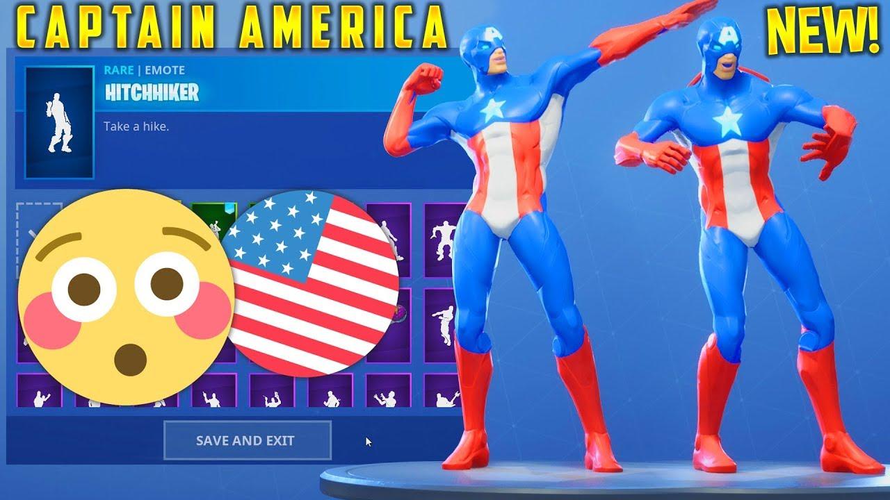 hypexarmy fortnitecaptainamerica - fortnite leaked captain america skin