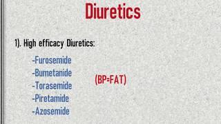 Classification of Diuretic drugs- Easy notes ( Diuretics part 1)