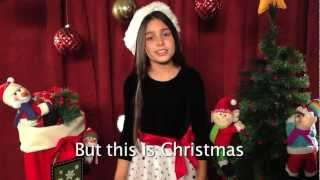 """Please Come Home For Christmas"" Mariangeli from HitStreak Studios Official Cover Lyrics"