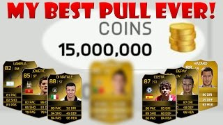 MY BEST PULL EVER! FIFA 14 UT 15 MILLION COIN PACK OPENING