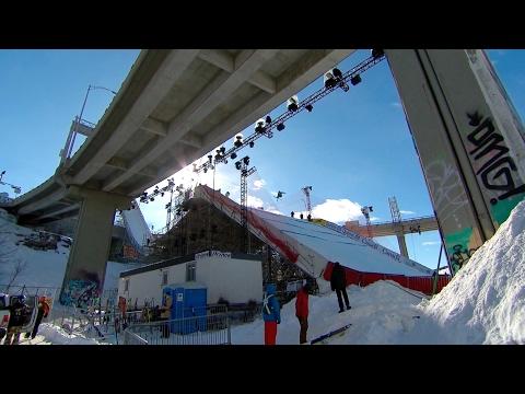 How Quebec City built a big air jump downtown   CBC Sports