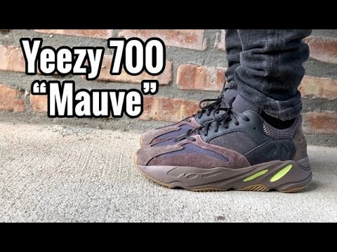 "f974c67e436f90 adidas Yeezy 700 BOOST ""Mauve"" On Feet - YouTube"
