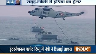 PM Modi Attends International Fleet Review 2016 at Visakhapatnam