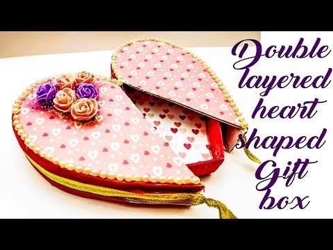 double layered heart shaped gift box | gift box for valentines day | valentines day special