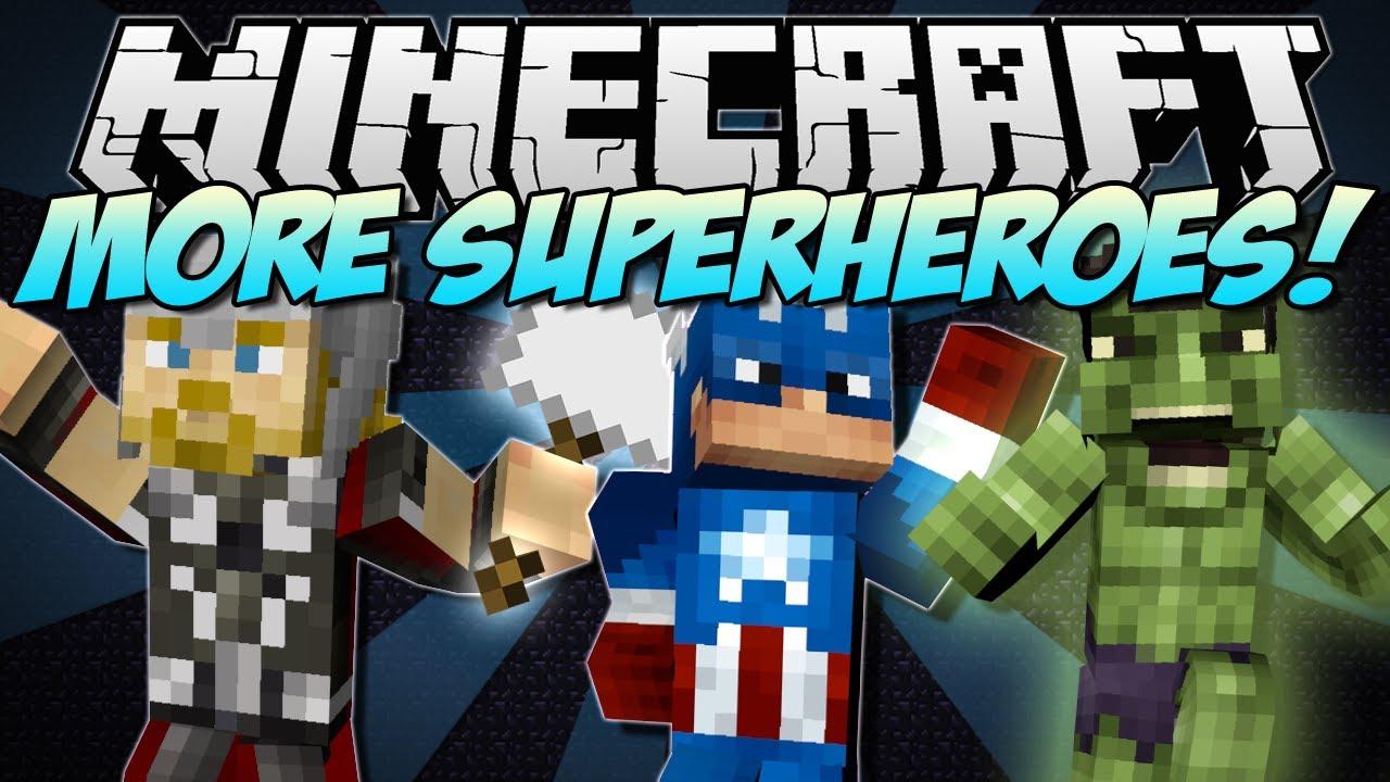 Minecraft | MORE SUPERHEROES! (Thor, Hulk, Captain America & More ...