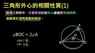 【觀念】三角形頂點外心連線夾角性質