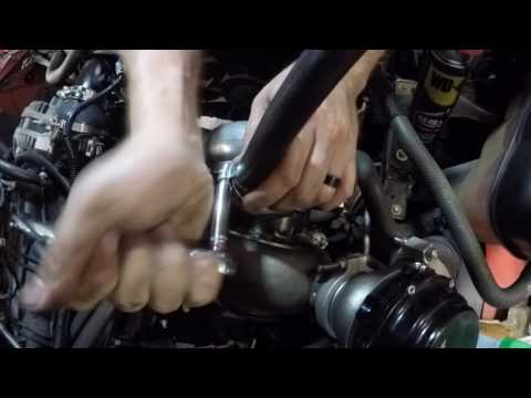 jaimie turbo truck oil feed and drain work