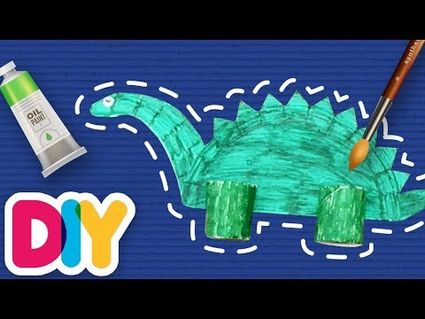 DINOSAURS Paper Plate Crafts | Fast-n-Easy | DIY Arts & Crafts for Parents