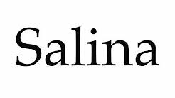 How to Pronounce Salina