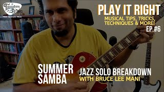 Taaqademy Play It Right Jazz Solo Breakdown With Bruce Lee Mani
