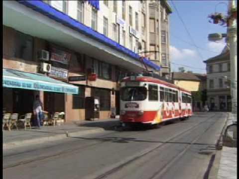 OSIJEK TRAMS CROATIA AUGUST 2000