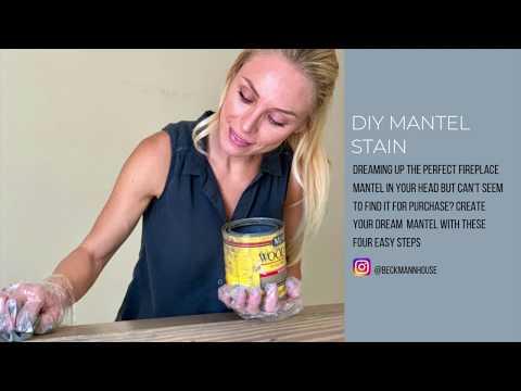 Beckmann House DIY Mantle Stain