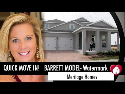 New Homes Winter Garden Florida Barrett Inventory Home by Meritage Homes at Watermark