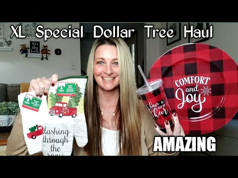 EXTRA LARGE Special Dollar Tree Haul/ Buffalo Checker & Red Truck/ DIY Ideas/ WOW