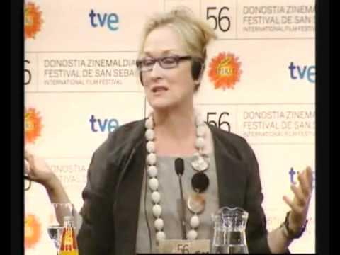 Meryl Streep conferencia de prensa donostia parte 2/6, sub español