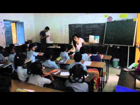 Read aloud by Teach For America Corp members in a Teach For India classroom