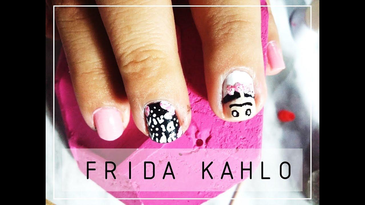 FRIDA KHALO    Diseño de uñas ♡ - YouTube