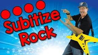 Subitize Rock (sŭbitize) | Math Song for Kids | Jack Hartmann/ Subitize to 10