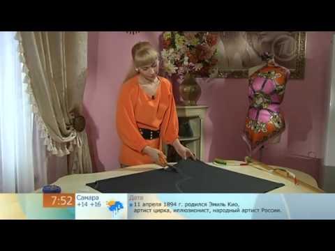 135 - Ольга Никишичева. Трикотажное платье-блузон