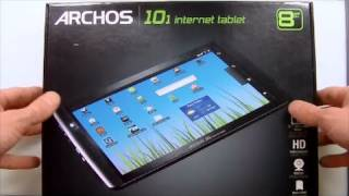Archos 101 Android Internet Tablet - Unboxing