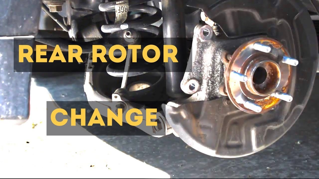 2016 Ford Fusion Rear Rotor And Brake Pad Change